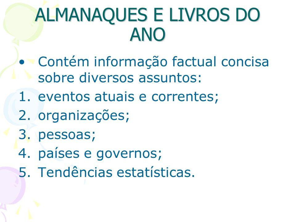 ALMANAQUES E LIVROS DO ANO