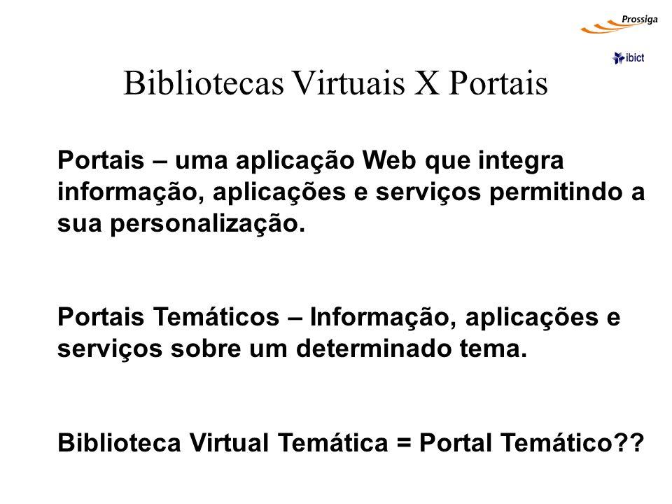 Bibliotecas Virtuais X Portais