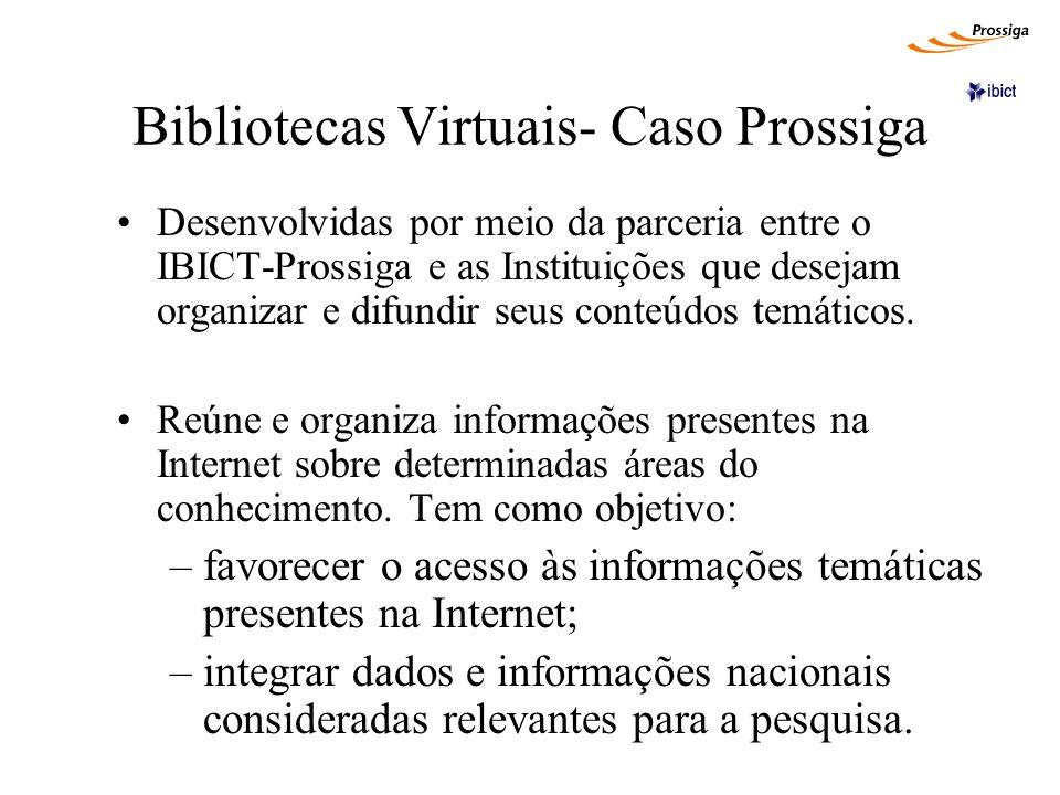 Bibliotecas Virtuais- Caso Prossiga