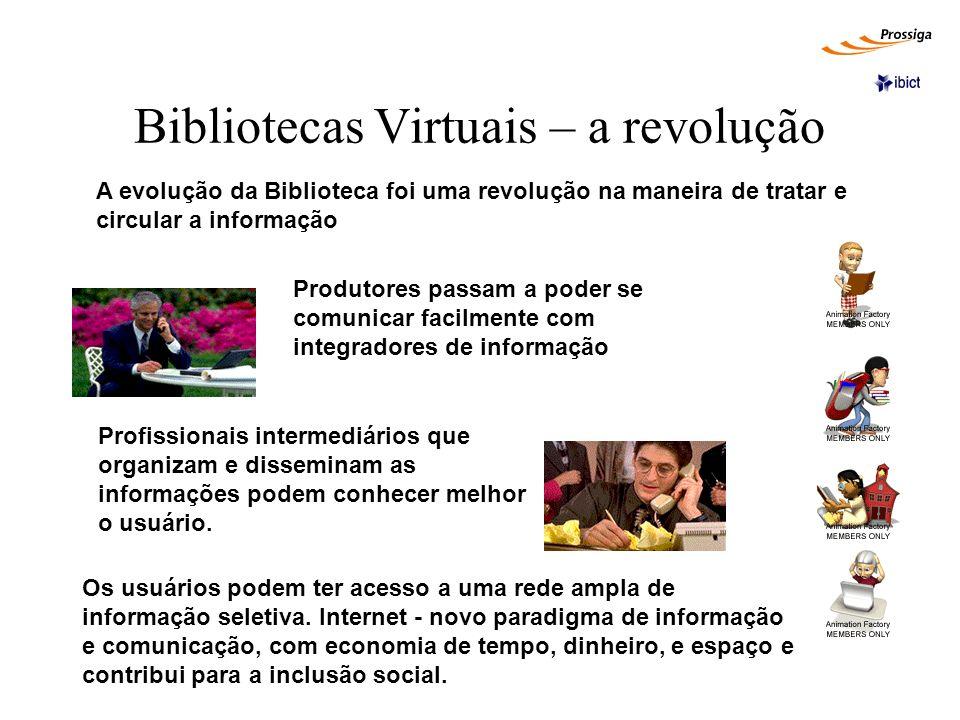 Bibliotecas Virtuais – a revolução