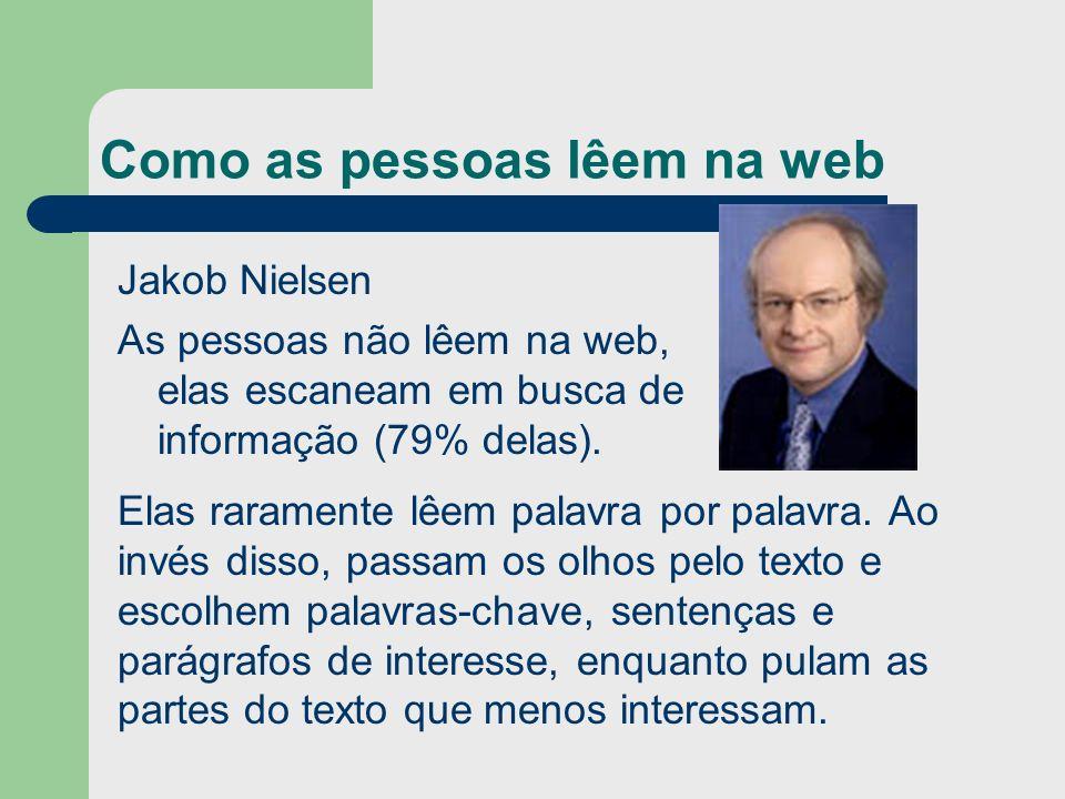 Como as pessoas lêem na web