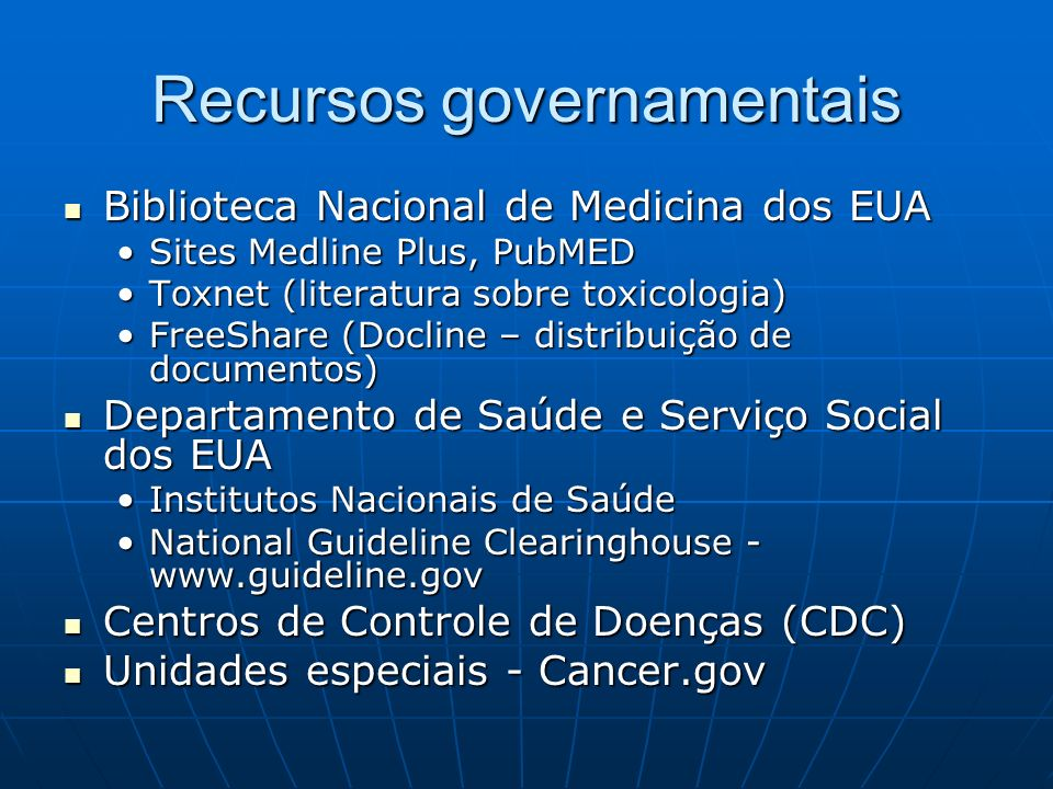 Recursos governamentais