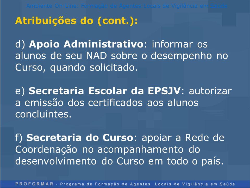 Ambiente On-Line: Formação de Agentes Locais de Vigilância em Saúde