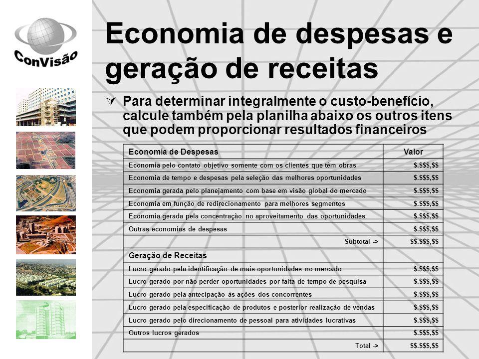 Economia de despesas e geração de receitas