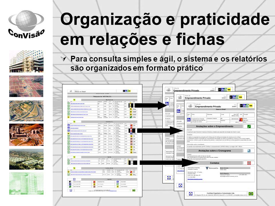 Organização e praticidade em relações e fichas