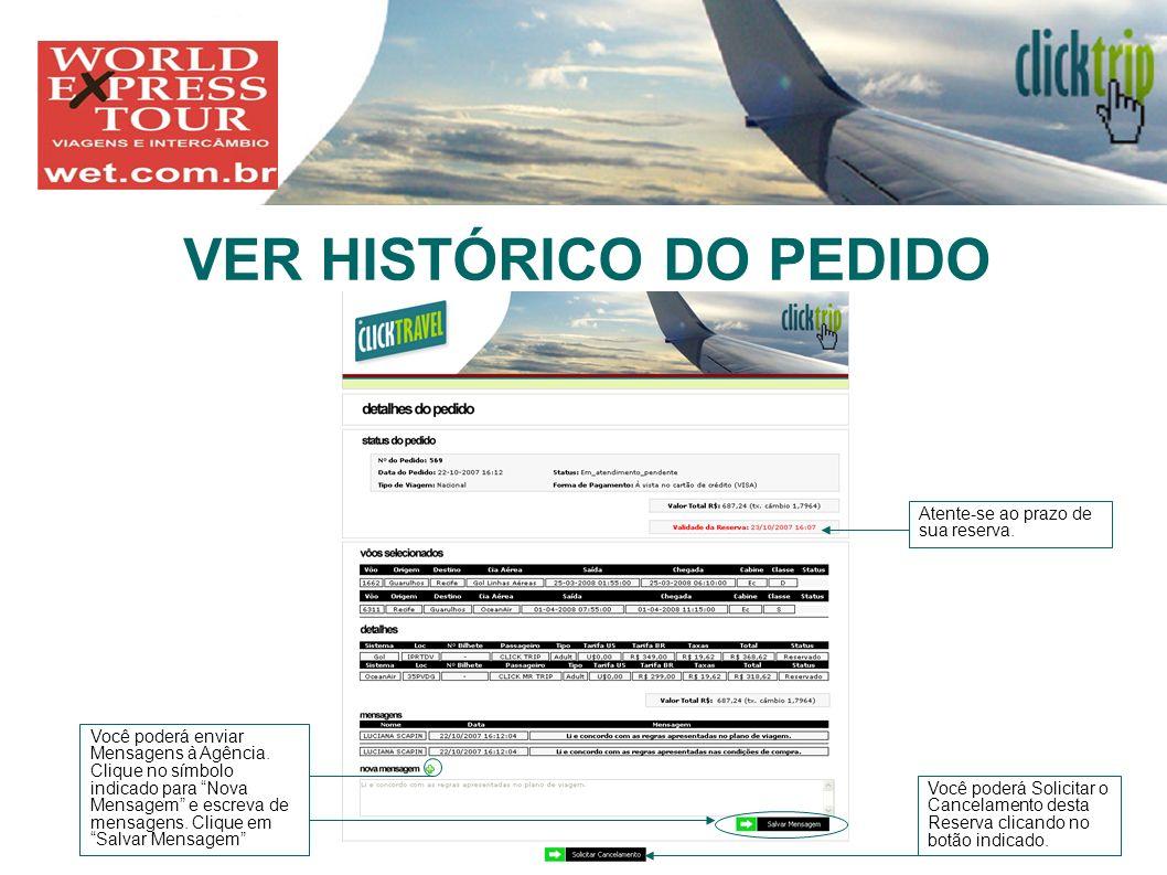 VER HISTÓRICO DO PEDIDO