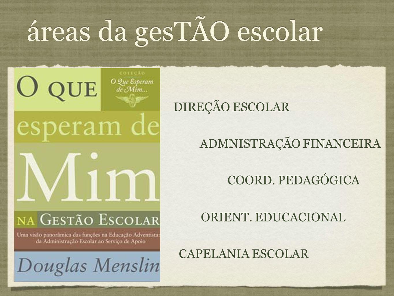 áreas da gesTÃO escolar