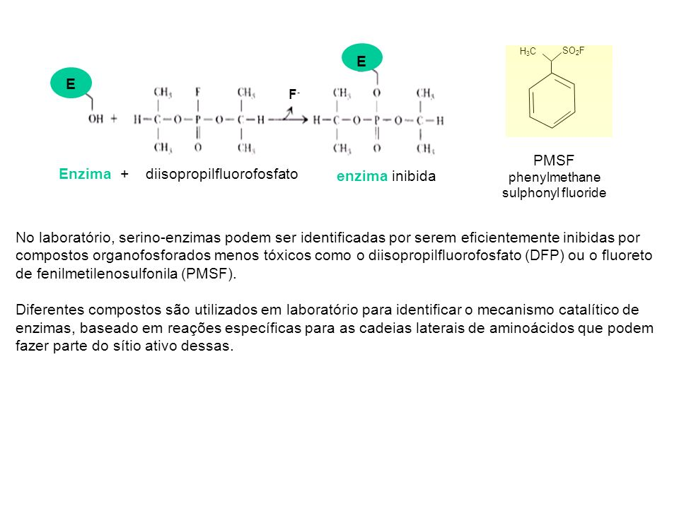 Enzima + diisopropilfluorofosfato enzima inibida