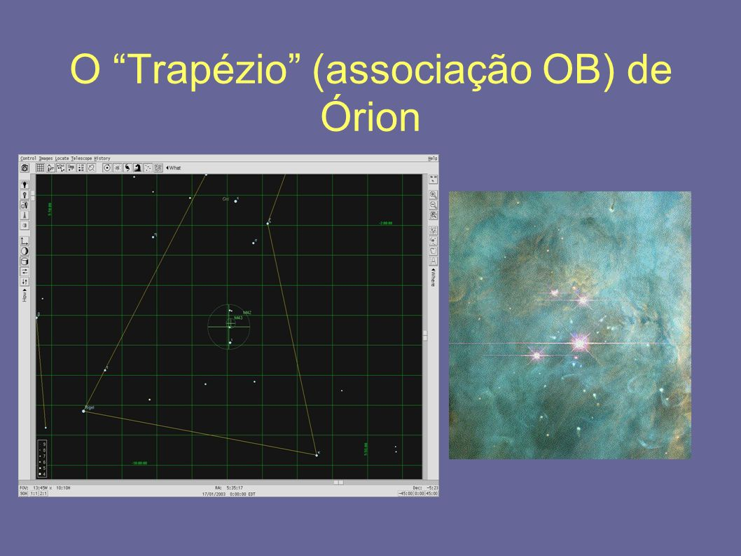 O Trapézio (associação OB) de Órion