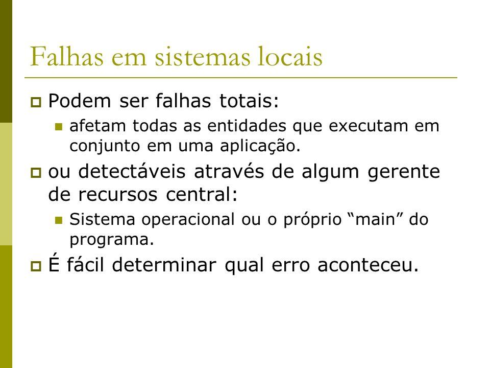 Falhas em sistemas locais