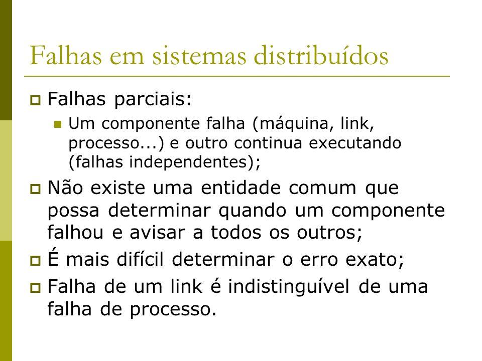 Falhas em sistemas distribuídos
