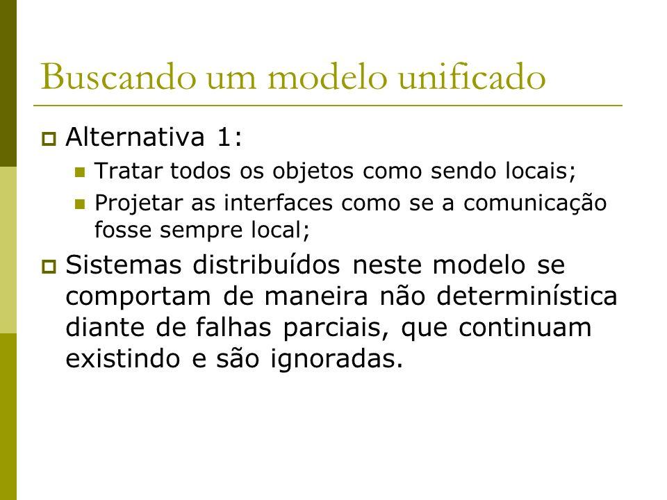 Buscando um modelo unificado