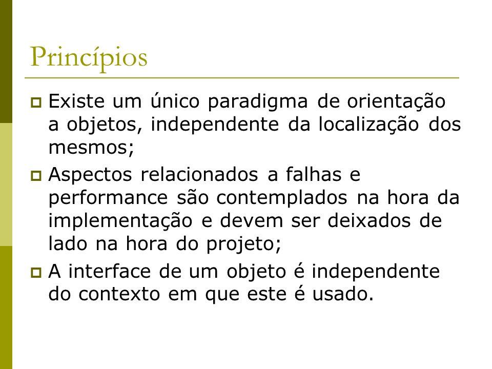 Princípios Existe um único paradigma de orientação a objetos, independente da localização dos mesmos;