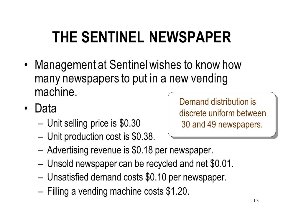 THE SENTINEL NEWSPAPER