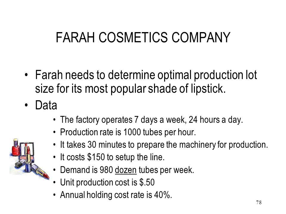 FARAH COSMETICS COMPANY