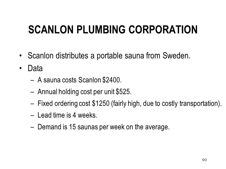 SCANLON PLUMBING CORPORATION