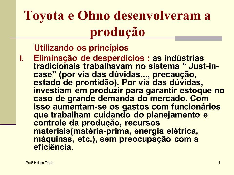 Toyota e Ohno desenvolveram a produção
