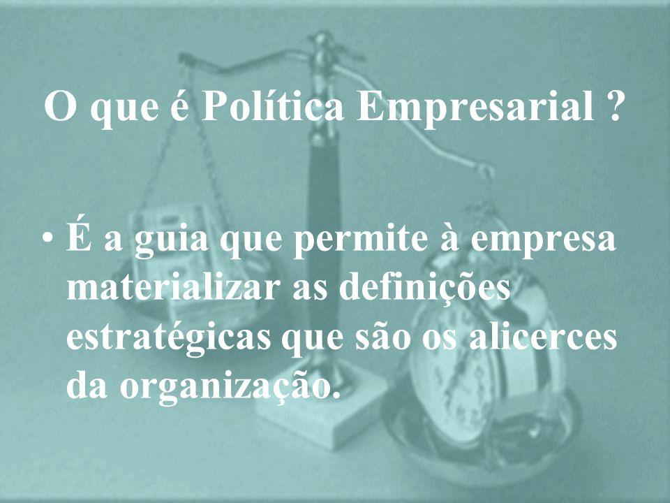 O que é Política Empresarial