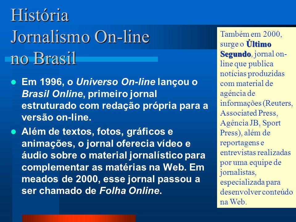 História Jornalismo On-line no Brasil