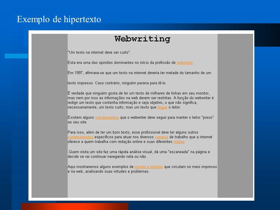 Exemplo de hipertexto
