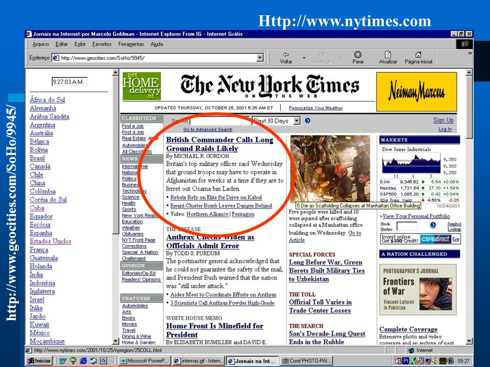 Http://www.nytimes.com http://www.geocities.com/SoHo/9945/