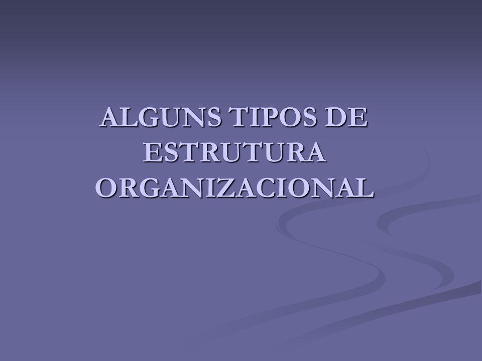 ALGUNS TIPOS DE ESTRUTURA ORGANIZACIONAL