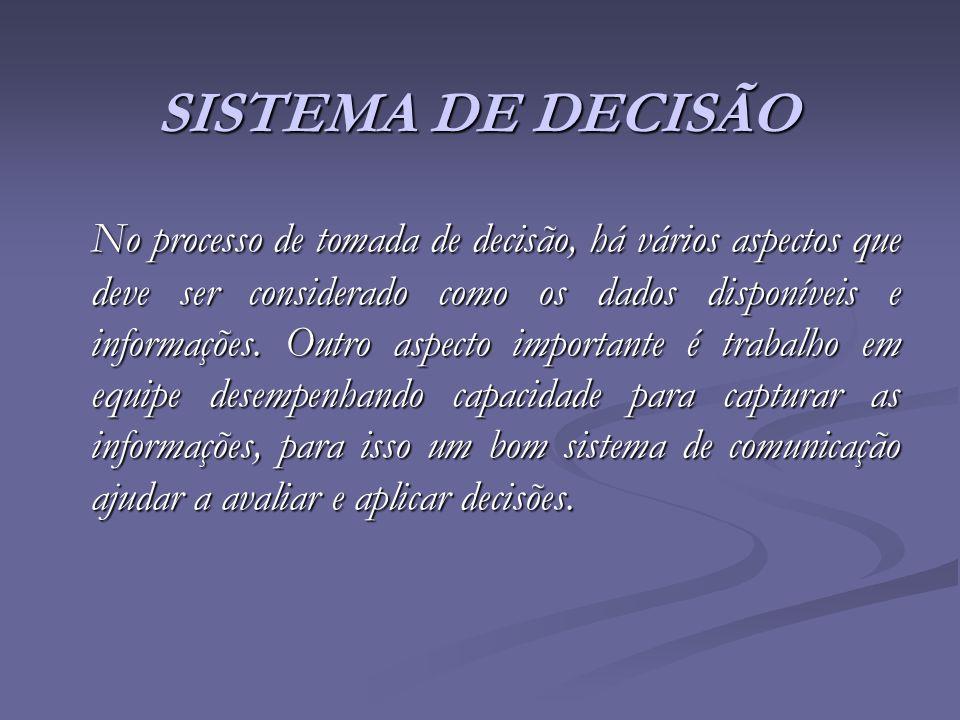 SISTEMA DE DECISÃO
