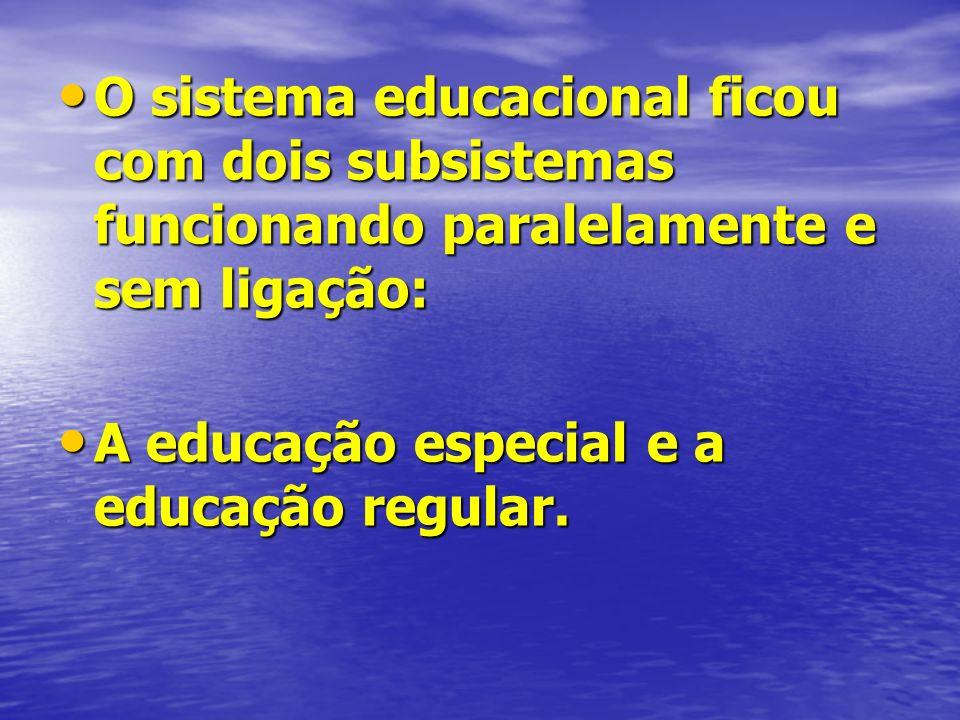 O sistema educacional ficou com dois subsistemas funcionando paralelamente e sem ligação: