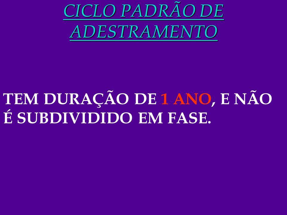 CICLO PADRÃO DE ADESTRAMENTO