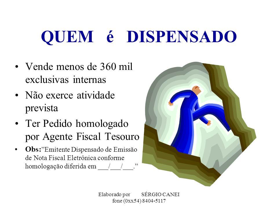 Elaborado por SÉRGIO CANEI fone (0xx54) 8404-5117