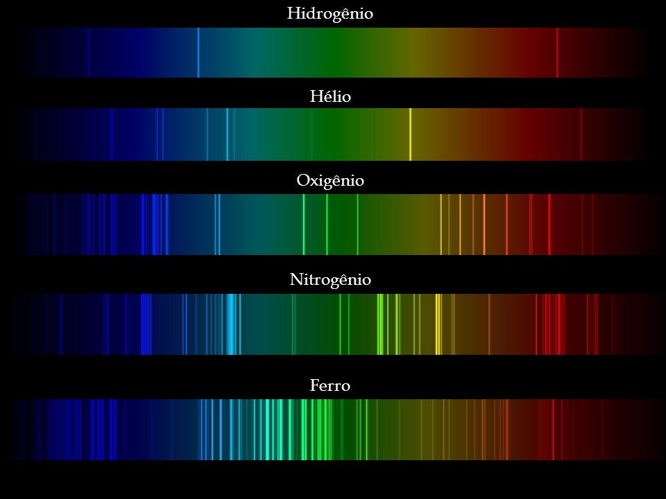 Hidrogênio Hélio Oxigênio Nitrogênio Ferro