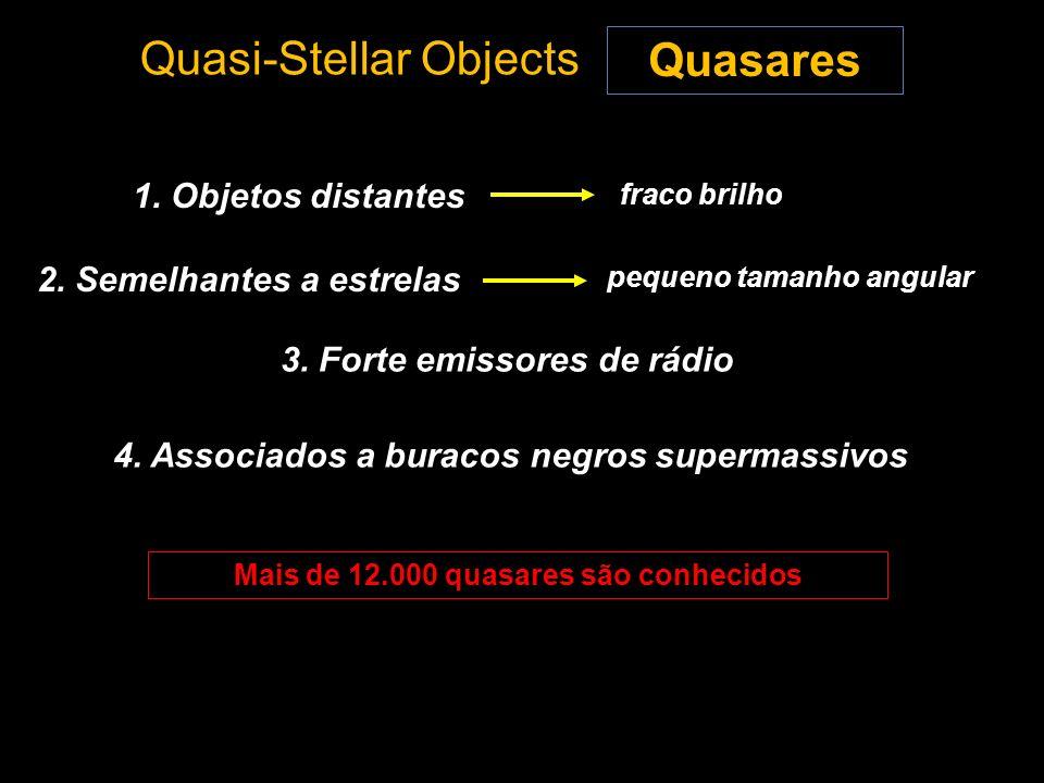 Mais de 12.000 quasares são conhecidos