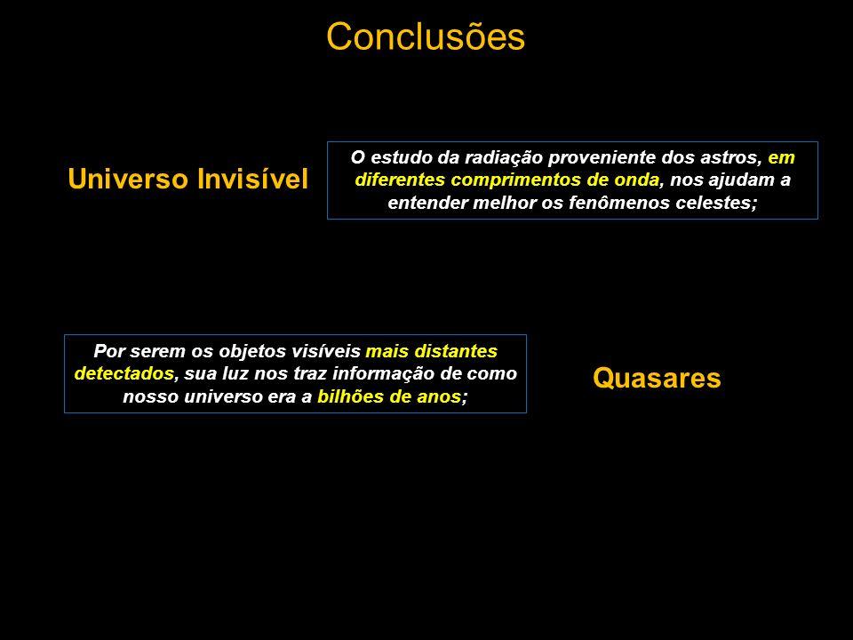 Conclusões Universo Invisível Quasares
