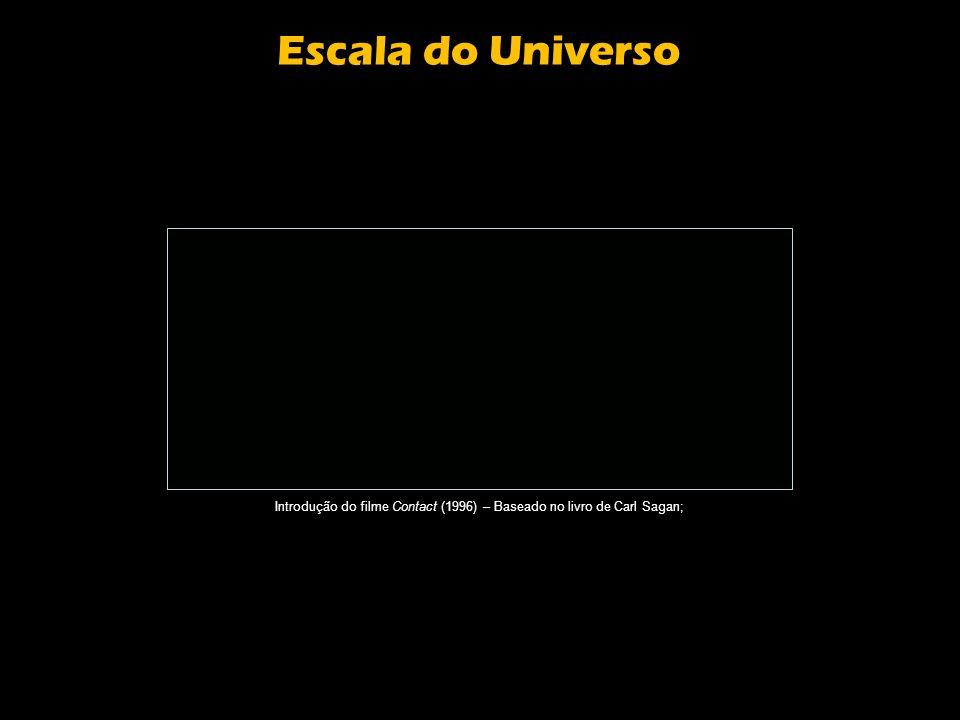 Introdução do filme Contact (1996) – Baseado no livro de Carl Sagan;