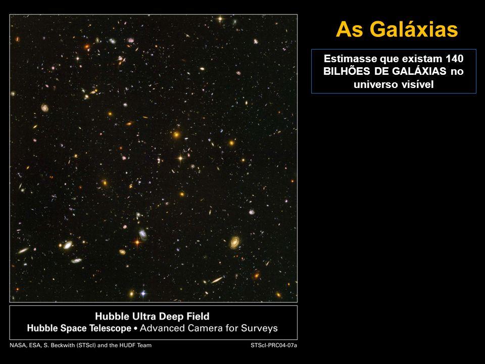 Estimasse que existam 140 BILHÕES DE GALÁXIAS no universo visível