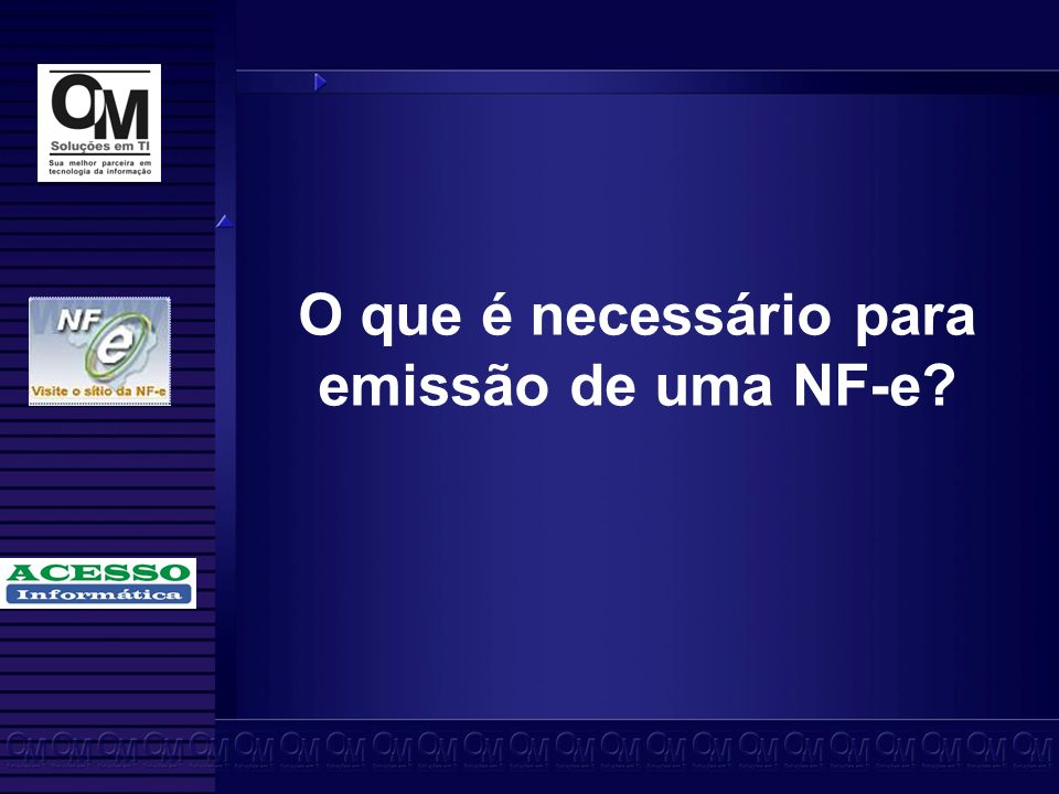 O que é necessário para emissão de uma NF-e