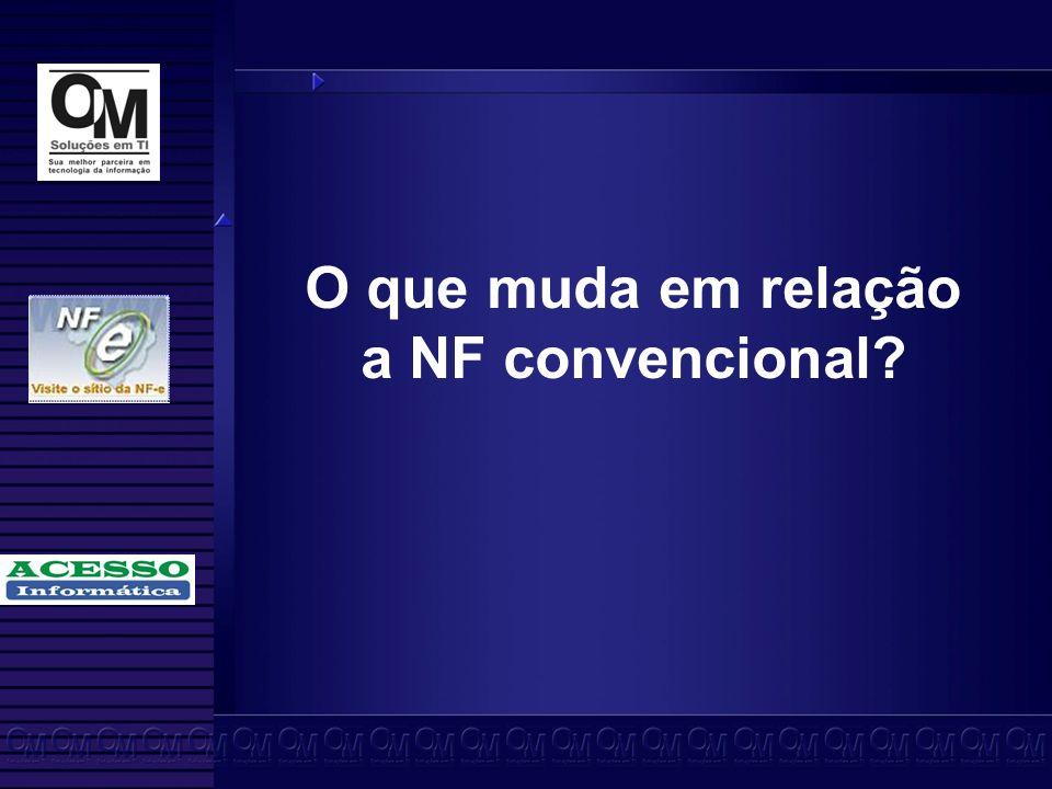 O que muda em relação a NF convencional