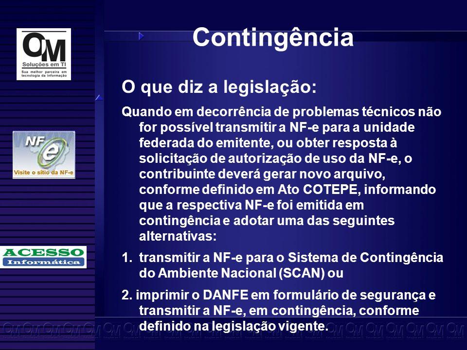 Contingência O que diz a legislação: