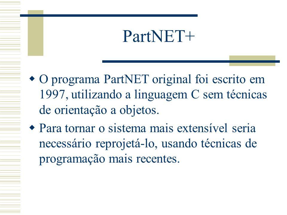 PartNET+ O programa PartNET original foi escrito em 1997, utilizando a linguagem C sem técnicas de orientação a objetos.