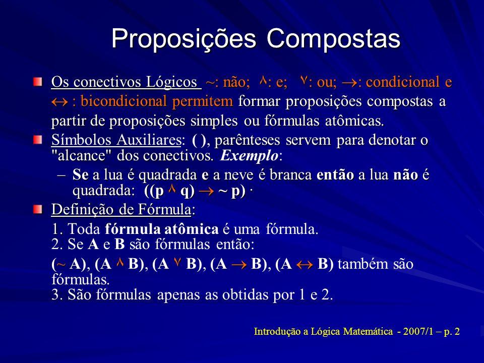 Proposições Compostas
