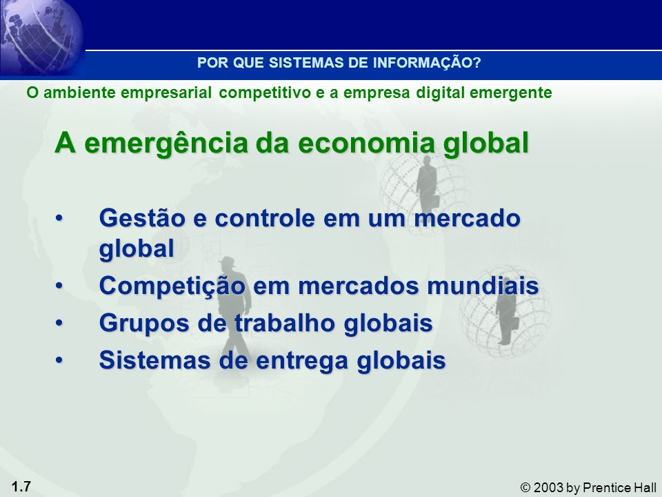 A emergência da economia global