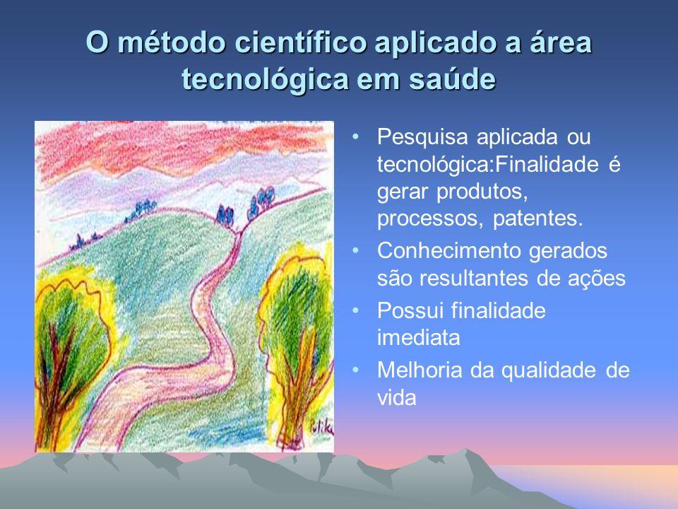 O método científico aplicado a área tecnológica em saúde