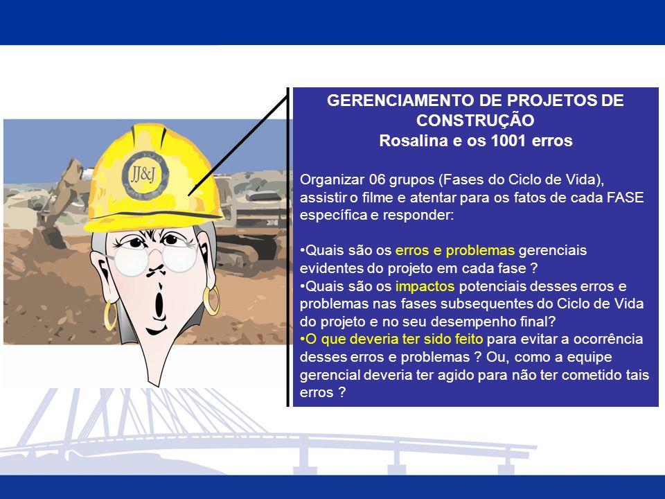 GERENCIAMENTO DE PROJETOS DE CONSTRUÇÃO