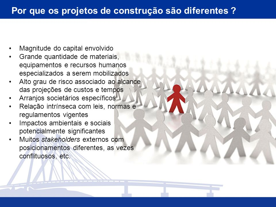 Por que os projetos de construção são diferentes