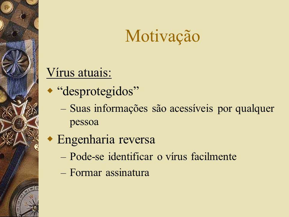 Motivação Vírus atuais: desprotegidos Engenharia reversa