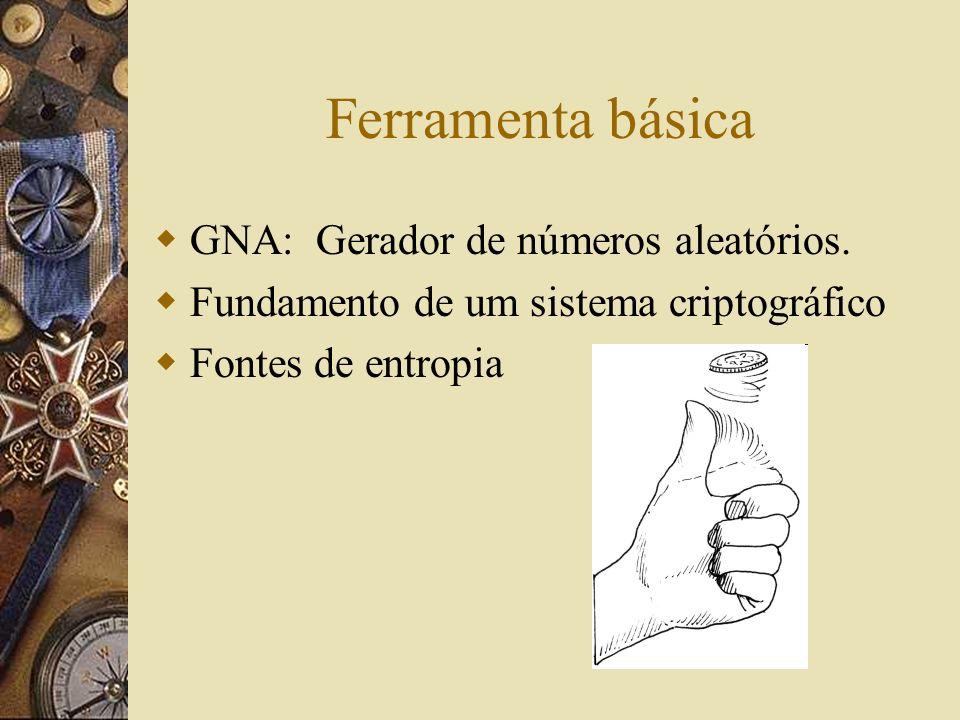 Ferramenta básica GNA: Gerador de números aleatórios.