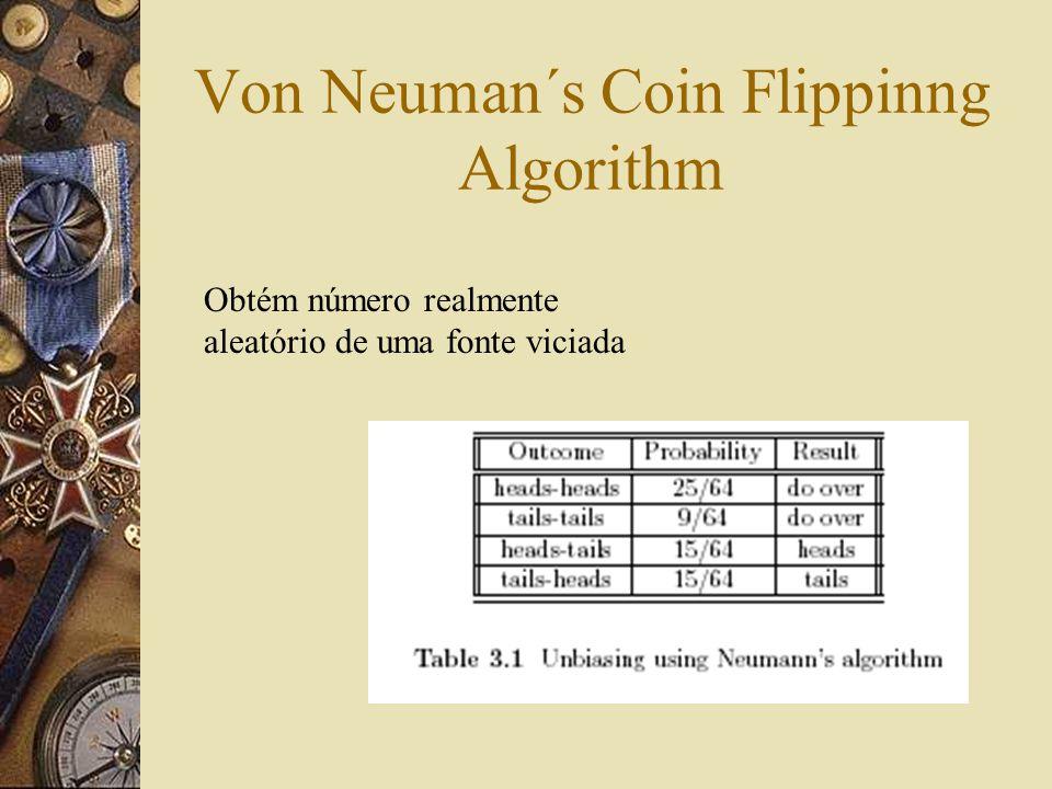 Von Neuman´s Coin Flippinng Algorithm