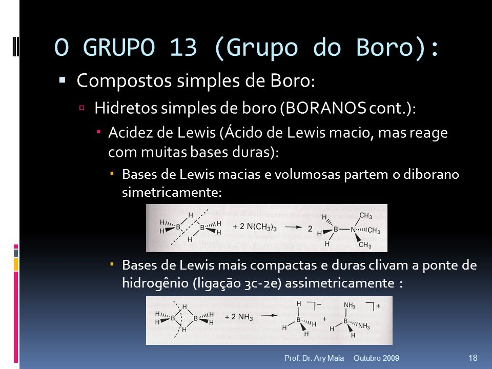 O GRUPO 13 (Grupo do Boro):