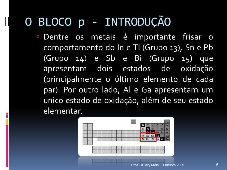 O BLOCO p - INTRODUÇÃO