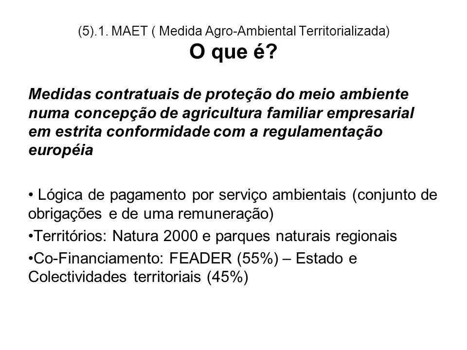 (5).1. MAET ( Medida Agro-Ambiental Territorializada) O que é